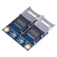 Mini PCI E Memory Card Adapter PCI E To Dual TF SDHC SDXC Reader Converter For