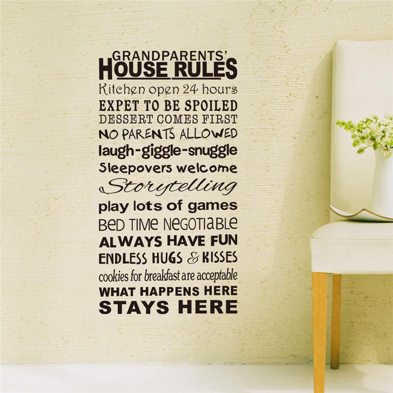 Online Get Cheap House Rules Wall Decal Aliexpresscom Alibaba - House rules wall decals