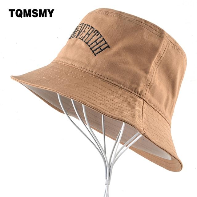 TQMSMY Cotton bucket hats for men Bob cap Collapsible Casual Summer sun hat  women Wide Brim adf8ebf06c5