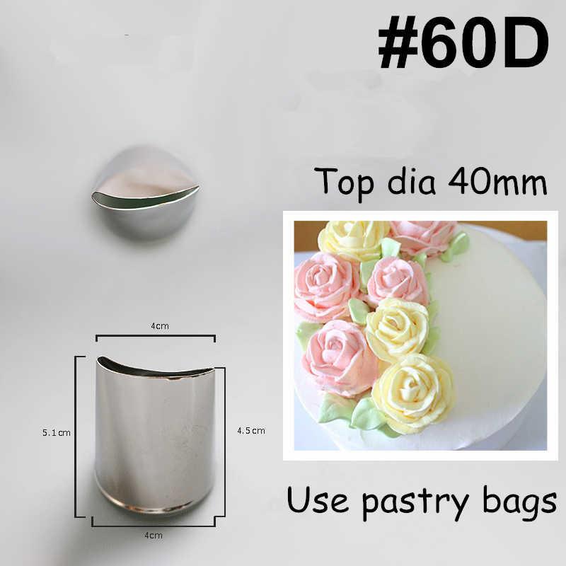 Bezpłatne 8 sztuk płatek róży metalowe krem porady ciasto stalowe zestaw dysz do lukrowania krem tortowy dekorowanie babeczek narzędzie do pieczenia ciasta