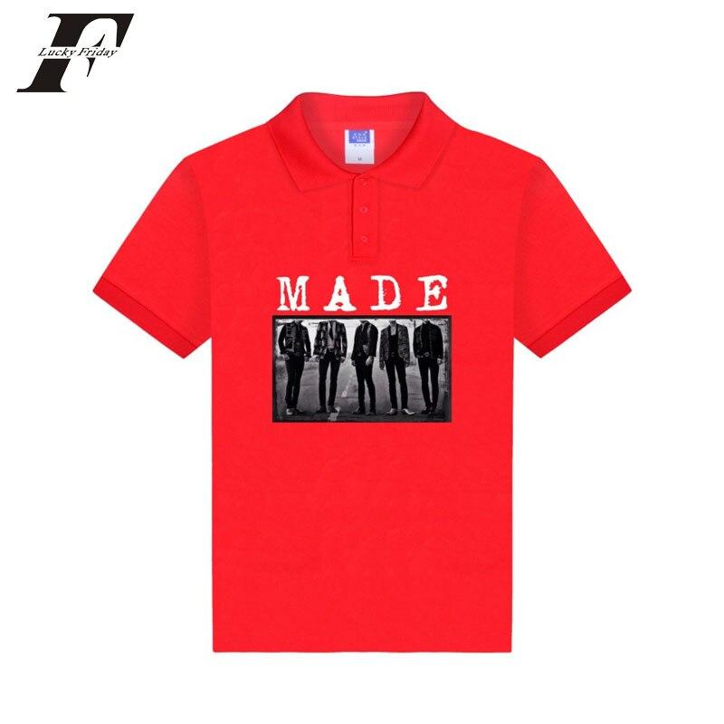 Gutherzig Luckfridayf 2017 Kpop Casual Cotta Fitness Polo-shirt Für Männer Casual Baumwolle Camisa Polo Camiseta Masculina Männer Hemd