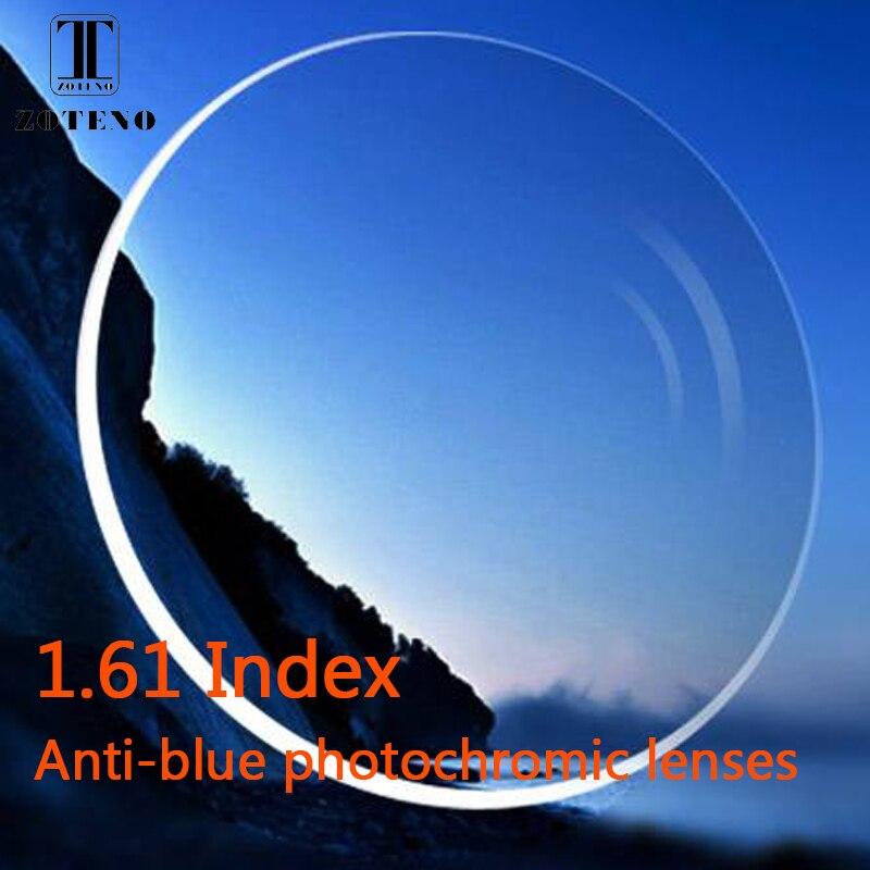 Lentilles antiphotochromiques à indice 1.61 forme libre lentilles de verres optiques à Prescription optique en résine asphérique multifocale