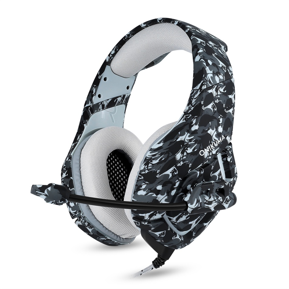 ONIKUMA K1 Camouflage PS4 Headset Bass Gaming Headphones Game Earphones Casque with Mic for PC Mobile Phone New Xbox One Tablet ndju k1 camouflage headset super bass ps4 gaming headphones with mic game earphones for pc mobile phone xbox one tablet casque