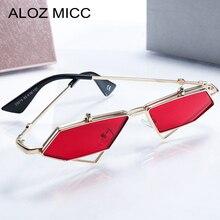 ALOZ MICC Fashion Small Frame Sunglasses Women 2018 Personality Flip Alloy Sun Glasses Female Brand Designer Punk Eyewear Q631