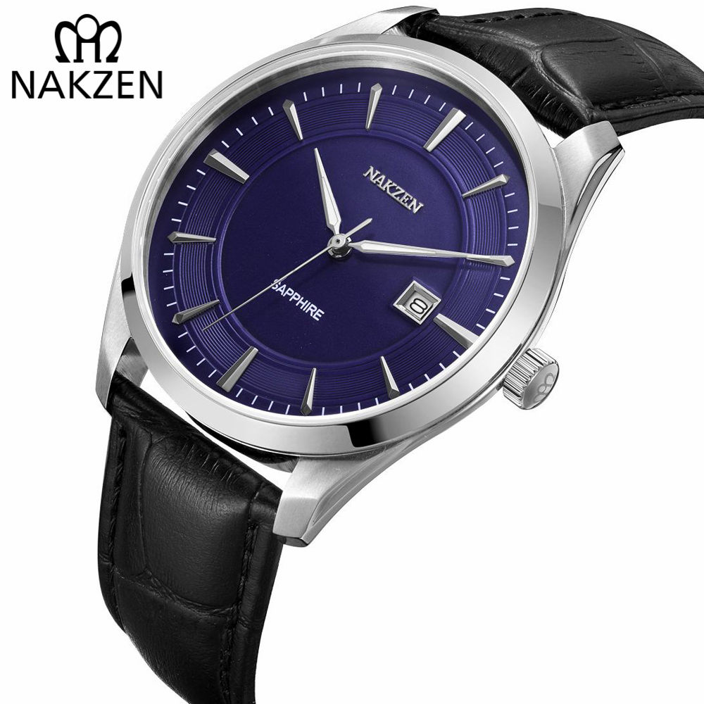 NAKZEN Mens Casual Watches Top Luxury Brand Quartz Watch Casual Leather Sports Wristwatch Homme Male Clock Relogio Masculino 2017 new listing yazole mens luxury brand watch quartz clock fashion leather belts watch sports wristwatch relogio masculino