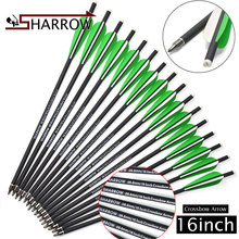6pcs/12pcs 16 inch/40.64cm Crossbow Arrows Mix Carbon Steel fixed Arrows Outdoor Traditional Bow Sports And Entertainment