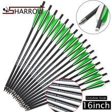 6ks / 12ks 16 palců / 40,64 cm Kuše Arrows Mix Carbon Steel pevné šipky Venkovní tradiční bow sport a zábava