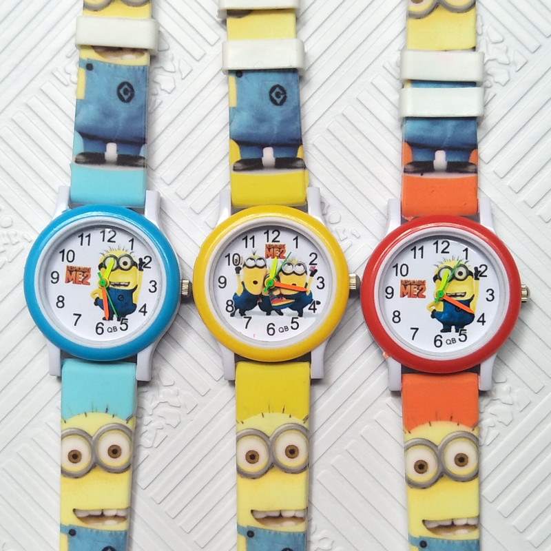Good Quality Children Watch 3D Eye Despicable Me Kids Watches For Students Girls Boys Clock Quartz Child Wristwatches Baby Watch
