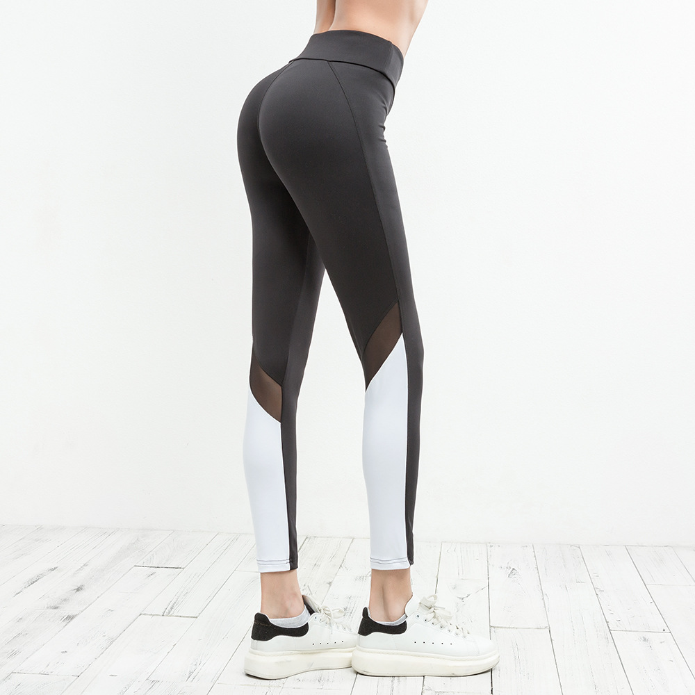 2018 Women Running Pants Sexy Compression Tights Solid Hips Push Up Leggings Fitness Pants Quick Dry Elastic Trousers