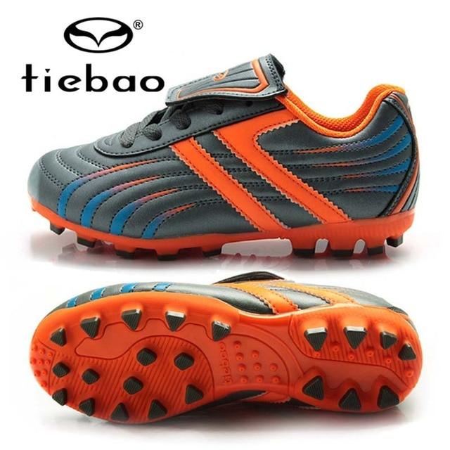 TIEBAO Детей детский Футбол Обувь ЕС 28-38 Открытый Футбол Сапоги Обучение Кроссовки Футбольные Бутсы AG Подошвы Zapatos Де футбол
