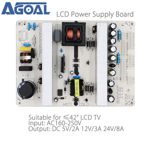 Universal LCD LED TV Power Supply Board for 26/32/37/42 inch TV Panels DC 5V2A/12V3A/24V8A Output 2/4/7/8/10/13 Pins(China)