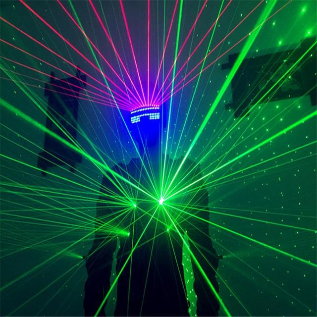 T826-1 Laser costumes Green light dj dance laser man wears discoparty laser gloves led mask ballroom dance led costumes clothing