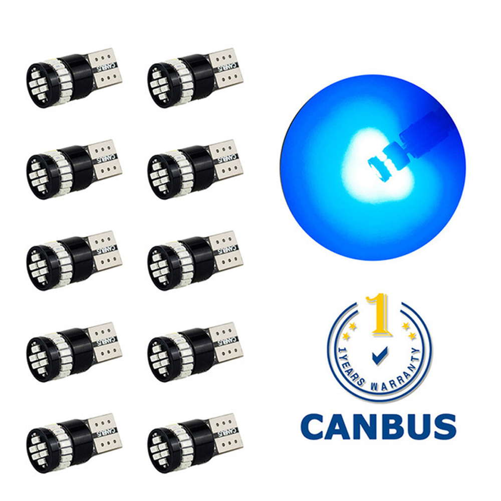 10Pcs T10 LED Canbus W5W 168 194 Clearance Parking Lights For Audi A4 B6 B8 B5 A3 8P 8V A5 A6 C5 C6 C7 A7 A8 Q3 Q5 Q7 R8 TT 80 image