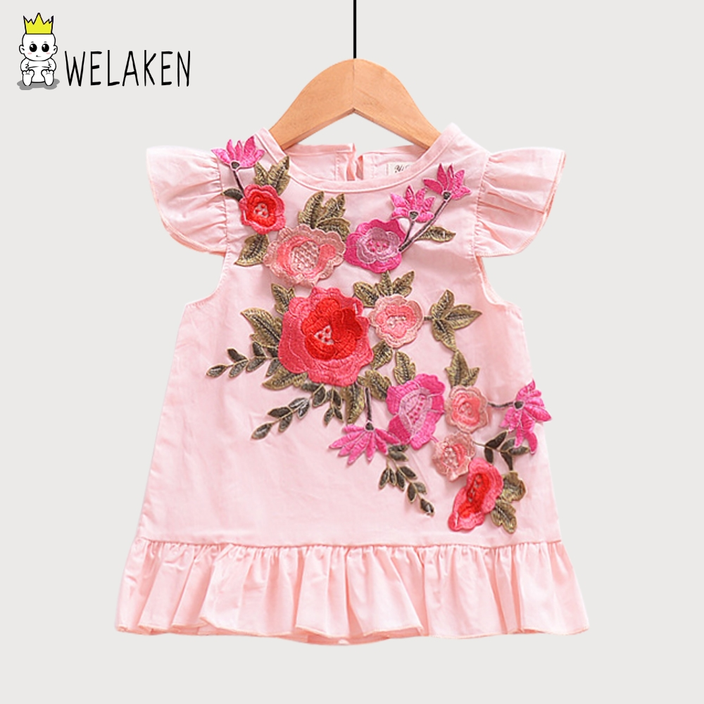 Welaken 2018 nuevo llega Niñas princesa bastante floral Bordado ...