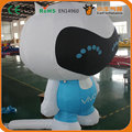 Free Shipping 2m movable  inflatable mobile doll cartoon for advertising