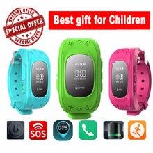 HOT Smart watch Children Kid Wristwatch Q50 GSM GPRS GPS Locator Tracker Anti-Lost Smartwatch Child Guard for iOS Android