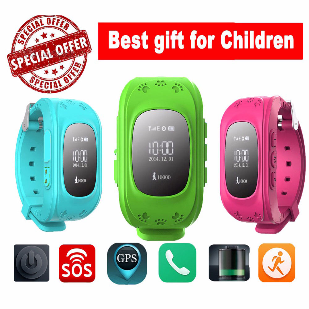 HOT Smart watch Children Kid Wristwatch Q50 GSM GPRS GPS Locator Tracker Anti Lost font b