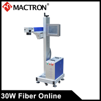 30 Вт волокно лазерной печати машина онлайн волокна лазерный принтер для Пластик трубы печатная машина для производственной линии