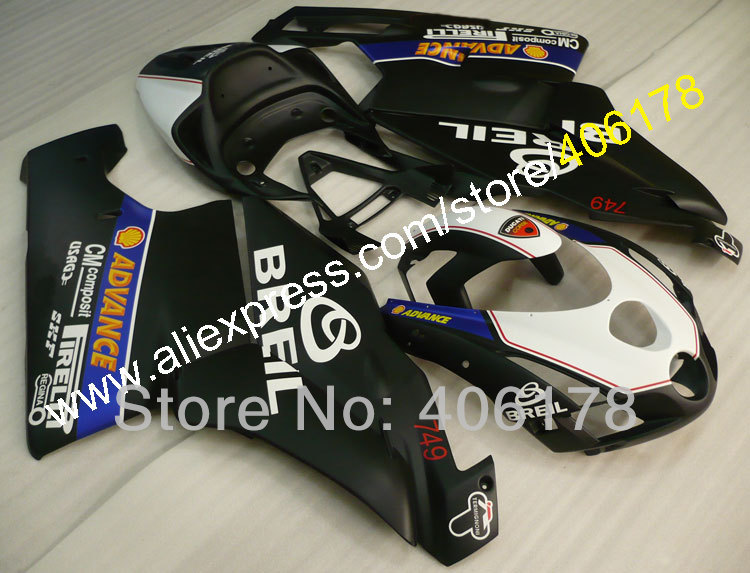 Hot Sales,High quality fairing Set for Ducati 999 749 03 04 abs fairing 2003 2004 Breil Fairings (Injection molding) hot sales sv650 03 04 05 06 07 08 09 10 11 12 13 fairings for suzuki sv650 2003 2013 sv650s black abs motorcycle fairing set