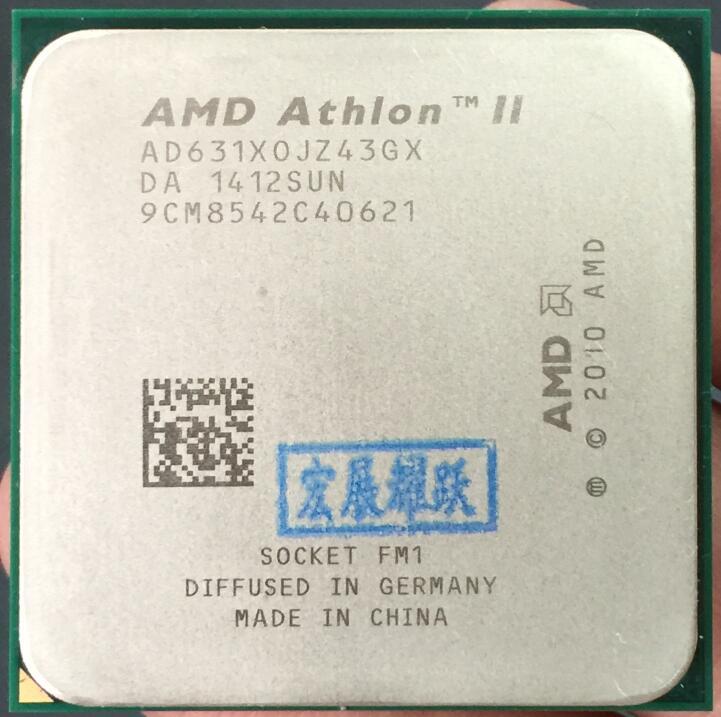 AMD Athlon II X4 631 FM1 Quad-Core CPU 100% Working Properly Desktop Processor