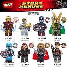 Avengers 4 Endgame Iron Man Captain America Hawkeye Black Widow Thor Figuren Für Kompatibel Mit Lego X0259