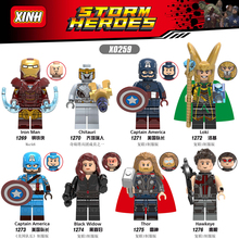 Avengers 4 Endgame Iron Man Captain America Hawkeye Black Widow Thor Figures For Compatible With Lego X0259