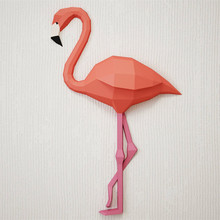 30min Complete DIY 3D Flamingo Paper Sculpture Papercraft Puzzle Toy Educational Folding Model Christmas Gift Science
