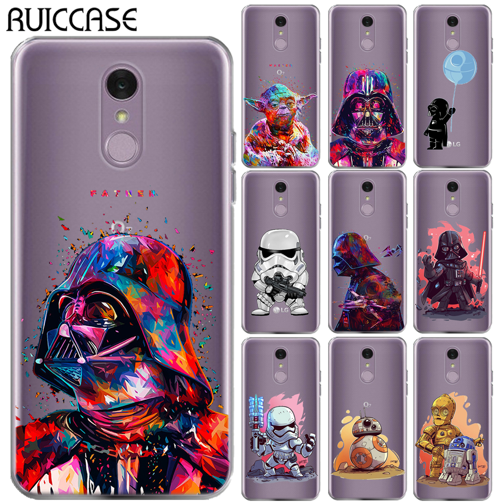 Star Wars Silicon Case For Coque LG Q7 Characters KyloRen BB-8 Soft TPU Phone Ba