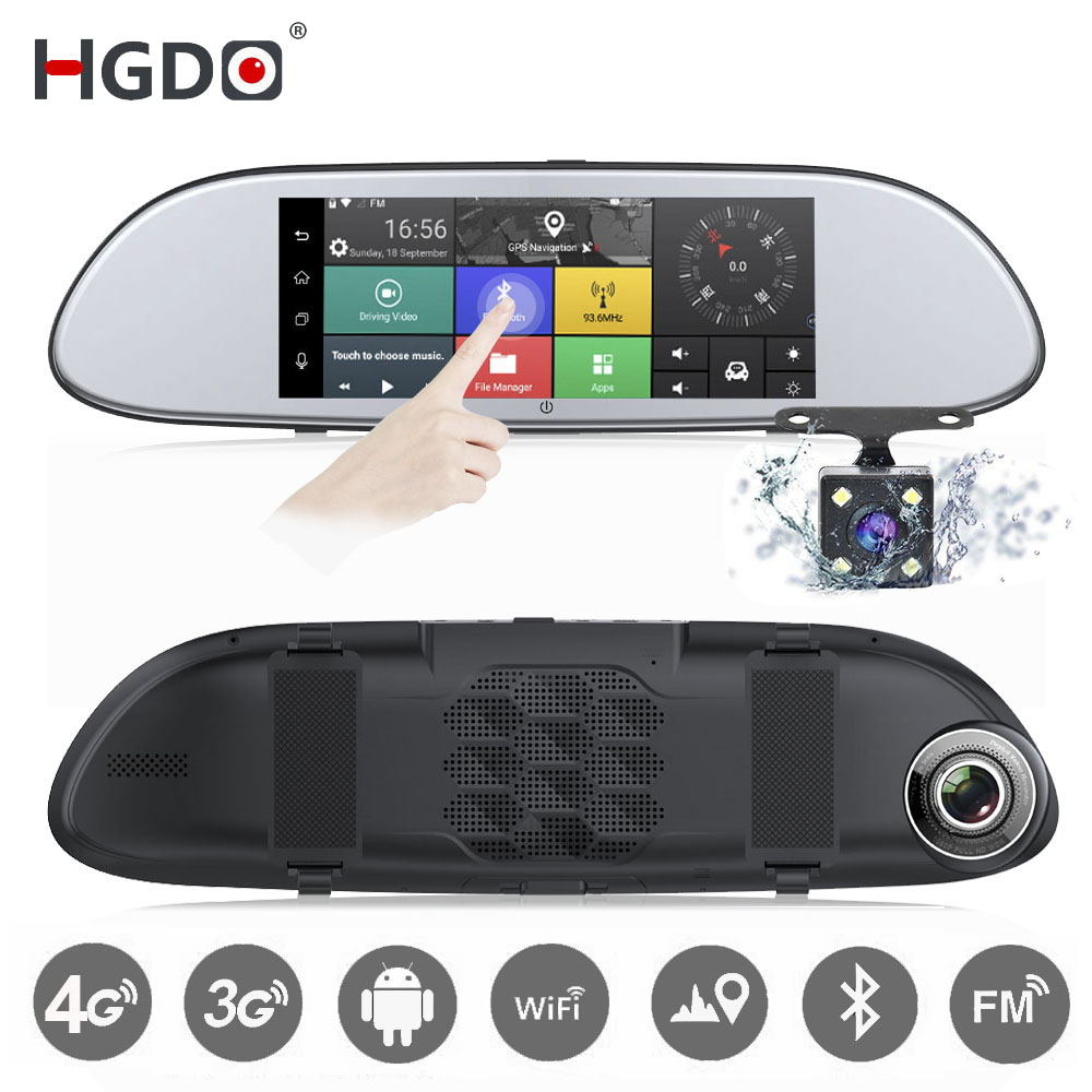 HGDO Video-Recorder Car-Dvr-Mirror-Camera Dash-Cam Android Dual-Lens Registrar Wifi Rear-View