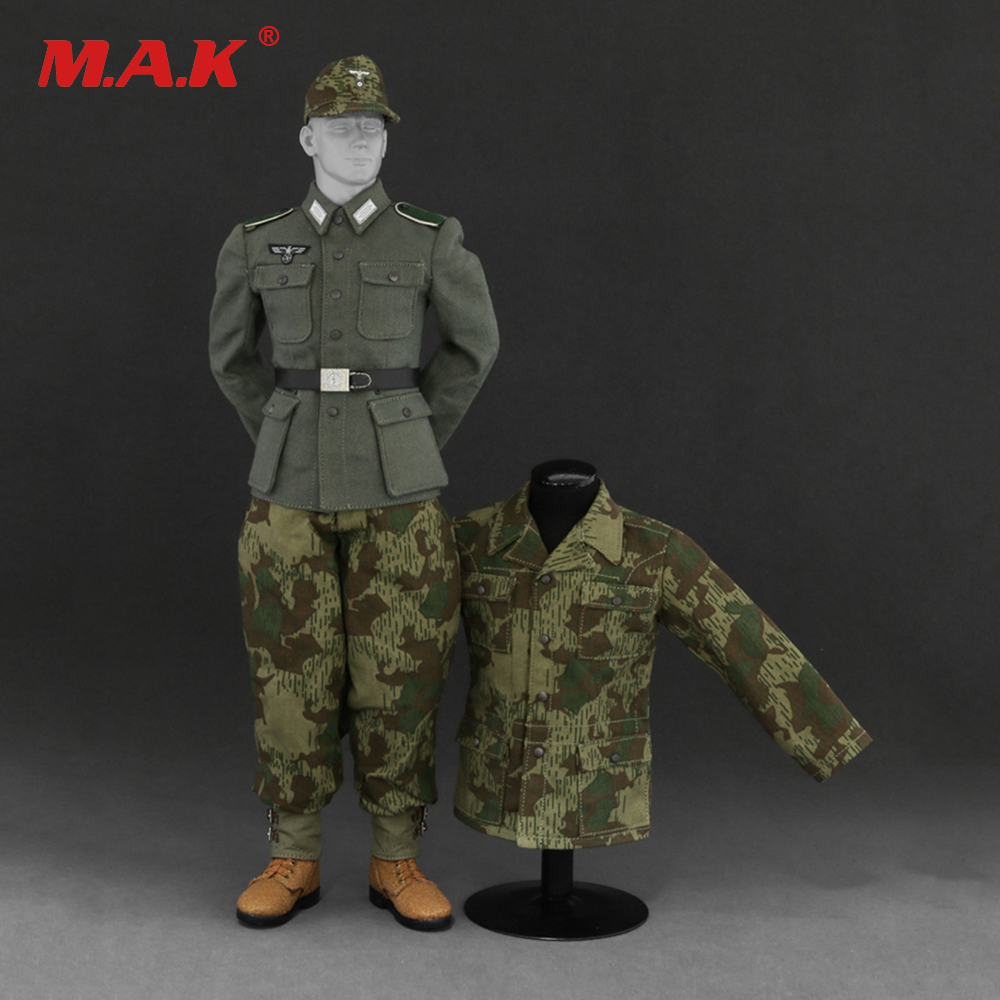 1/6 AL10010 A/B WWII German Wehrmacht and the SS Camouflage Uniform Suit Model for 12 inches Male Action Figure ba904 academy wwii german artwox battleship bismarck wood deck aw10047