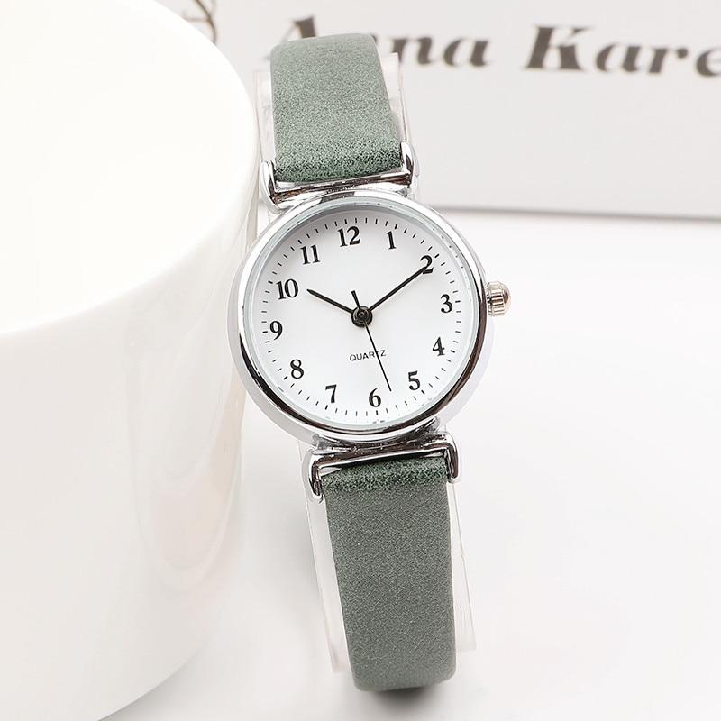 Requintado pequeno simples mulheres vestido relógios de couro retro feminino relógio de topo da marca moda feminina mini design relógio de pulso
