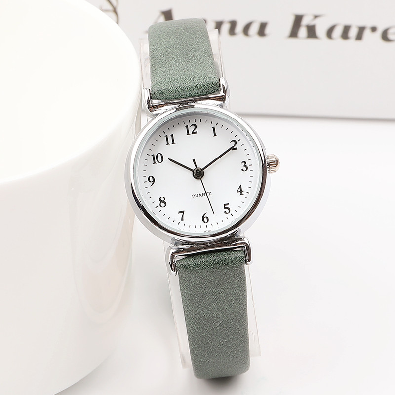 Exquisite Small Simple Women Dress Watches Retro Leather Female Clock Top  Brand Women's Fashion Mini Design Wristwatches Clock