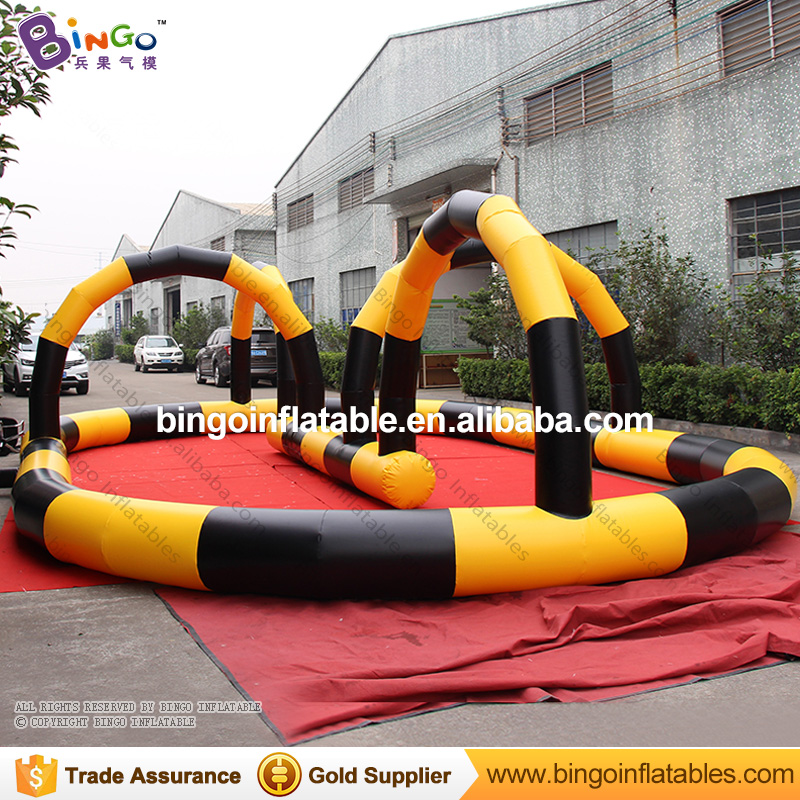 10 * 6M PVC Customize inflatable go kart race track karting track, Inflatable Race Car Circuit for zorb ball inflatable zorb ball race track pvc go kart racing track for sporting party