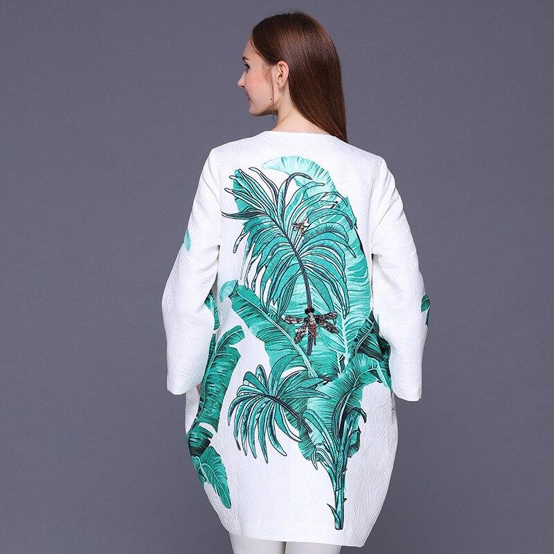 Banane Marque Vintage Piste 2018 Lâche Manteau Automne As Femmes Nouveau Mode Base Hiver De Picture Outwear Perles Veste Peaves Imprimer rqqtPwv