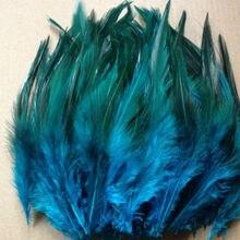 Натуральные 100 шт./лот, 10-15 см/4-6 дюймов, красивые фазаны на шею, синие куриные перья для украшения своими руками