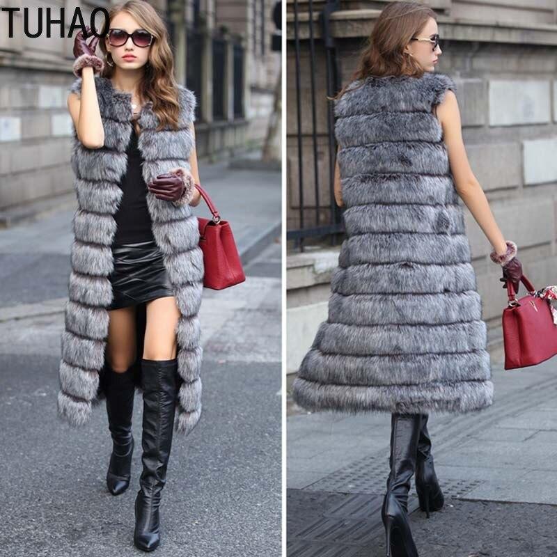 D'hiver Plus Outwear Longue Manteau gris De Taille Fausse 3xl Gilet Tuhao kaki En Fourrure Furry Femmes Veste Mode Blanc P8d6nq
