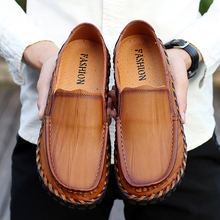 Summer Genuine Leather Men Casual Shoes Men Loafers Moccasins Slip On Men's Flats Breathable Soft Male Driving Handmade Shoes new handmade casual shoes men high quality genuine leather soft loafers moccasins slip on male flats driving shoes lazy slippers