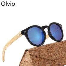 Olvio бренд Винтаж Bamboo солнцезащитные очки, Дерево Солнцезащитные очки для Для мужчин Для женщин высококачественные поляризованные линзы UV400 классический Пилот солнцезащитные очки