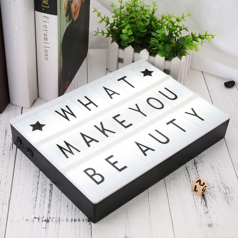все цены на DIY Total 85 Cinema Lightbox Letters For A4 Light Box Colorful Lighting Letters&Cards & Signs&Numbers Night Lamp Holiday Decor онлайн