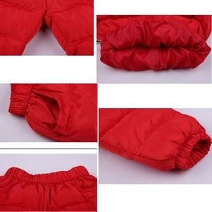 Image 5 - 8 15 t Chàng Trai & Cô Gái Bông Quần Mùa Đông Ấm Xuống Bông Quần Cho Trẻ Em Bình Thường Rắn Thicking Outwear quần Chất Lượng Cao
