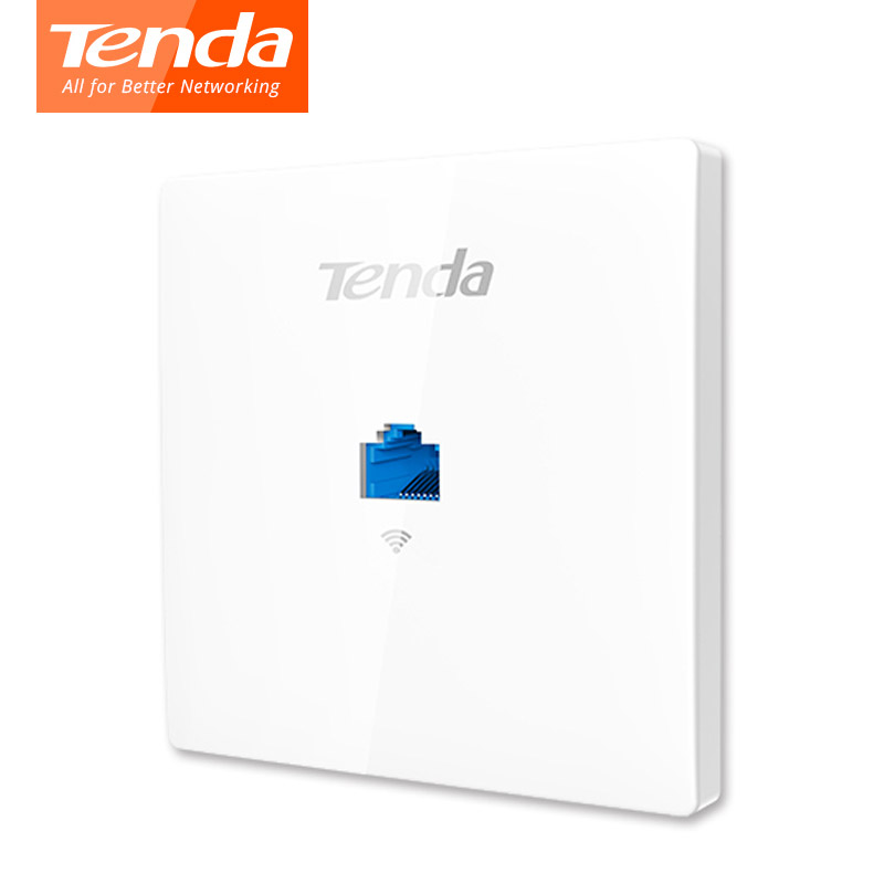 Tenda W9 Wireless Wifi Access Point 11AC 1200Mbps Router WiFi Repeater ,  Indoor Wall Client+AP, For Hotel/Villa/Hospital Wards