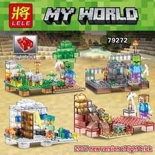 375pcs New Version of Light Brick My World 4in1 Product Portfolio Model Building Blocks Brick Legoed Technic Toys for Kids