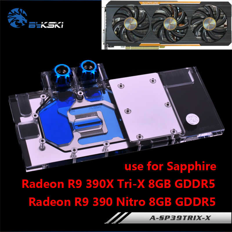 Bykski Full Cove GPU Water Block For ASUS R9 390X 290X 290
