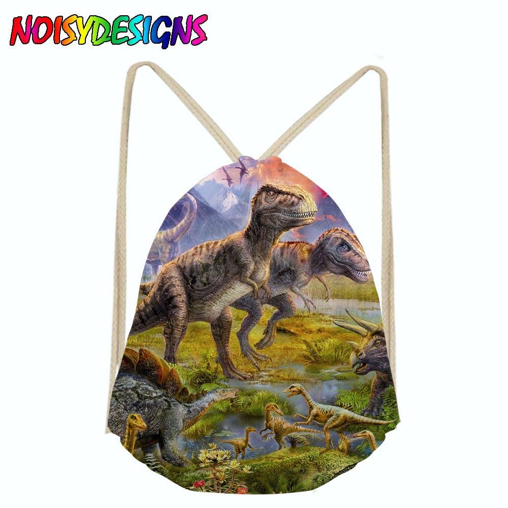NOISYDESIGNS Backpack female Dinosaur School bag drawstring bag girls boys bagpack mini backpack female satchel Female