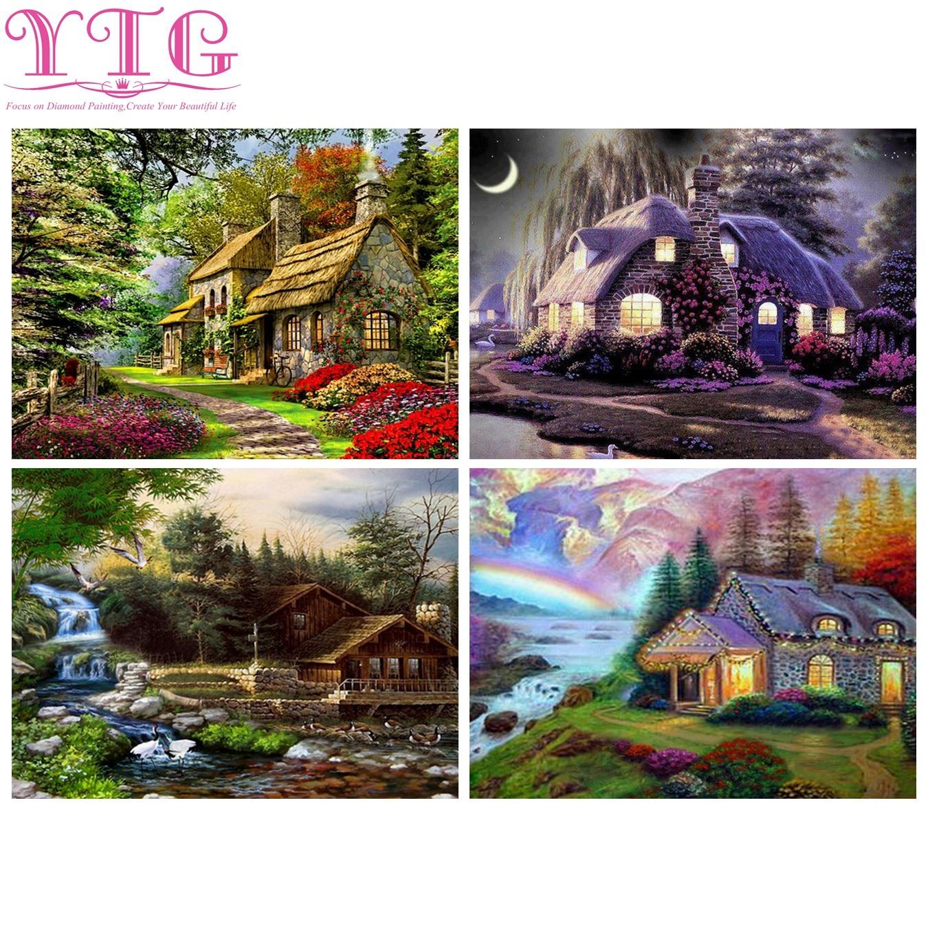 Rural,Scenery,Full,5D,Diamond Painting,Needlework,Diamond Embroidery,Cross Stitch,Rhinestone,Crafts,Home Decor,Christmas Gift