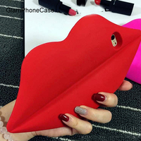 2016 Hot Silicon Lipsticker Red Lip Case For IPhone 6 6s 4 7 6plus 6s 5