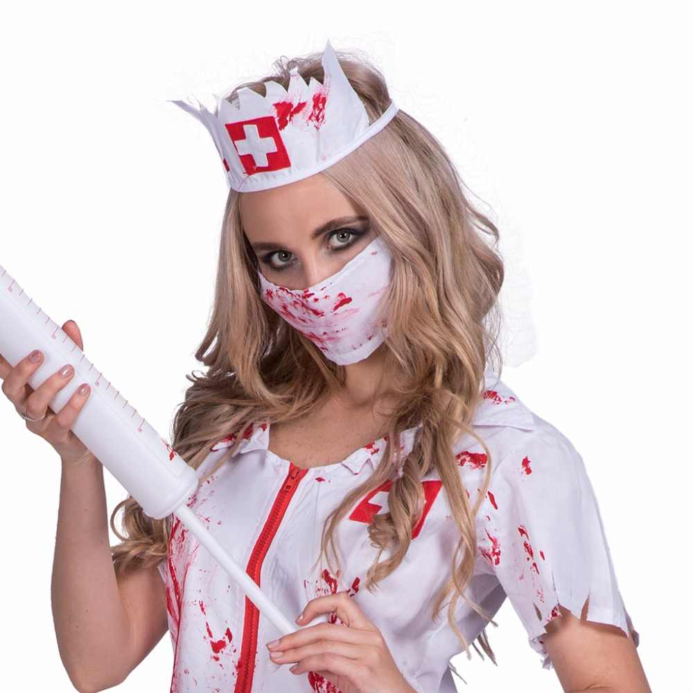 f732c50ecd418 ... Women Sexy Zombie Bloody Stains Nurse Costume Cosplay Dress Party Fancy  Dress for Female Adult Lady ...