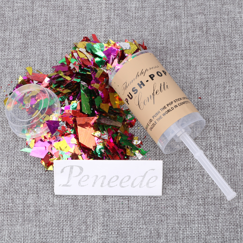 10 Pcs Push Pop With Confetti Toy DIY Birthday Decor Party Favor Bride To Be Wedding Exploding Poppers Free Shipping In Gags Practical Jokes
