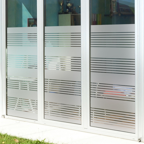 Custom Frosted Glass Imitation Shutter Partition