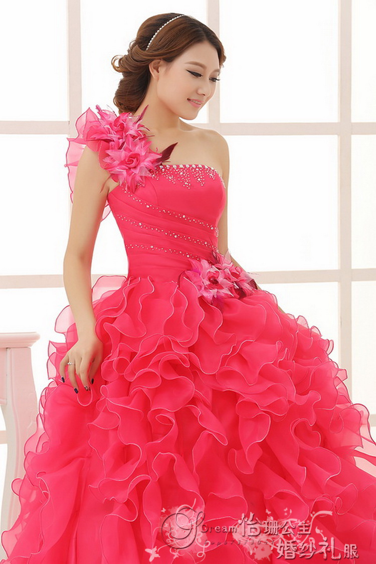 2014 colour princess wedding party gown 2014,colorful ball gown ...